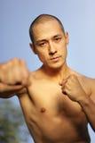 Artiste martial à l'extérieur Photos stock