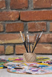 Artiste Paintbrush Photos stock