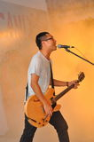 ARTISTE PERFORMING. Artiste EIC performing at the official logo launch of the 2010 Singapore Youth Olympic Games 2009 in Singapore Stock Photos