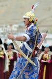 Artiste sur le festival de l'héritage de Ladakh photos libres de droits