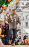 Artiste irlandais exécutant le jour de Patrick de saint Photo stock