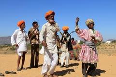 Artistes de Ravanahatha des déserts photo stock