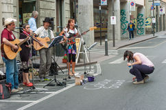 Artistes de rue Image stock
