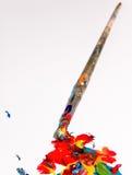 Artisti che verniciano gli strumenti Immagine Stock Libera da Diritti