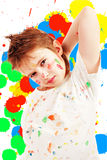 Artistic. Portrait of a styled children. Theme: art, education, school stock images