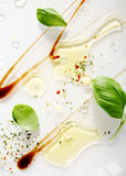 Artistic abstract background of food ingredients Stock Image