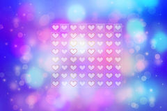 Artistic abstract background with pretty hearts. Artistic colorful abstract background with pretty hearts Royalty Free Stock Photo