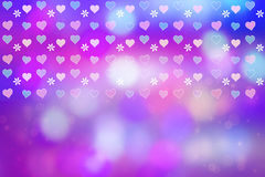 Artistic abstract background with pretty hearts Stock Photo