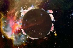 Artistic Abstract Colorful Galaxy With A Place To Write A Text On It stock illustration