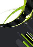 Artistic abstract designs. A artistic view of abstract designs in black, green and white, suitable for a background Royalty Free Stock Photo