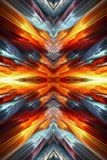 Abstract artistic glowing dangerous energetic fiery artwork background. Artistic abstract unique bright energetic fiery artwork as a unique background stock illustration