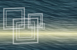 Artistic abstract wavy background with squares like windows Stock Photography
