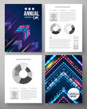 Artistic annual report vector template Royalty Free Stock Photos
