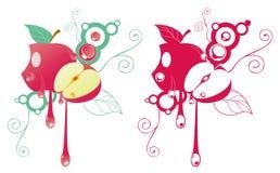 Artistic apple background Stock Image