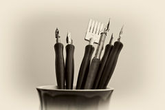Artistic art pens Royalty Free Stock Image