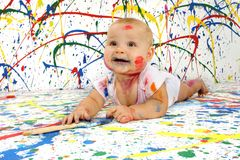 Artistic Baby Royalty Free Stock Photos