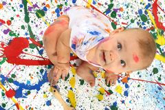 Artistic Baby Royalty Free Stock Image
