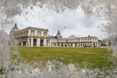 Artistic background. Aranjuez palace, spain. Aranjuez palace, spain madrid. heritage site Royalty Free Stock Image