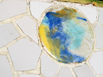 Artistic background of broken tiles Royalty Free Stock Photos