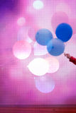 Artistic background with colorful balloons Stock Images