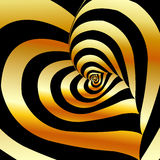 Artistic background with golden hearts Royalty Free Stock Photo