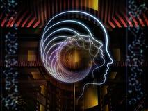 Unfolding of Human Technology Stock Image