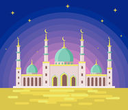 Artistic background with Muslim blue mosque for Ramadan and Eid Stock Photography