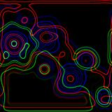 Neon Retro Abstract Art. An artistic background with neon glowing lines Vector Illustration