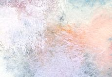 Artistic background. Painted surface. Light pastel colors for background. Hand made illustration Stock Image