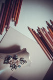 Artistic background with pencils Royalty Free Stock Photography