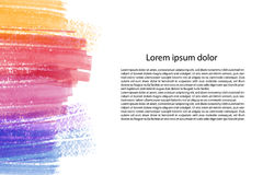 Artistic background vector with brush strokes, watercolor look background with empty space, page template with colorful. Painted stains Royalty Free Stock Photos