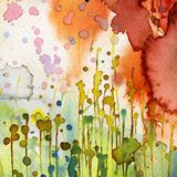Artistic background watercolor Stock Photography