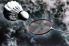 Artistic badminton action stock photos