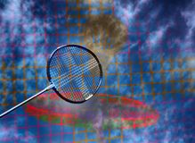 Artistic badminton action royalty free stock photo