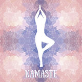 Artistic banner template for yoga retreat or yoga studio Royalty Free Stock Photography