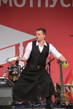 Artistic Bartender show from masters and Champions Ivan and Vitaly. Stock Images