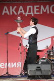 Artistic Bartender show from masters and Champions Ivan and Vitaly. Stock Photography
