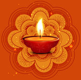 Artistic Beautiful rangoli diwali card Stock Photo
