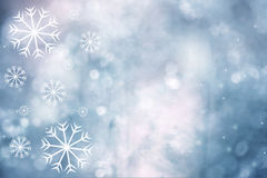 Artistic beautiful snowflakes greeting card Royalty Free Stock Photography