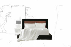 Artistic bedroom background Royalty Free Stock Images