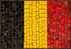 Artistic Belgium flag Stock Photos