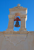 Artistic bell tower of the old church at Crete Island, Greece Royalty Free Stock Photos