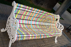 Artistic bench in Santiago Royalty Free Stock Photo