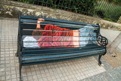 Artistic bench in Santiago Royalty Free Stock Images