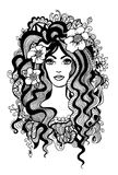 Artistic black and white illustration. Royalty Free Stock Photos