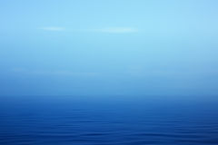 Artistic blue seascape Royalty Free Stock Images