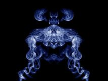 Artistic Blue Smoke Royalty Free Stock Images