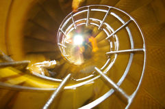 Spiral staircase. An artistic blurred spiral staircase royalty free stock photography
