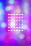 Artistic bokeh lights background with graphic elements Royalty Free Stock Photos