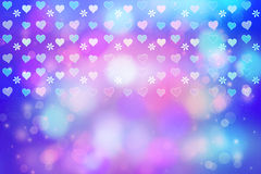 Artistic bokeh lights background with heart Stock Photography